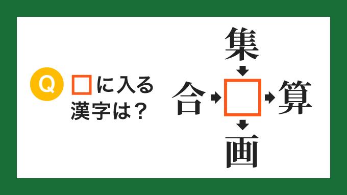 【クロス熟語】「合□」「集□」「□算」「□画」の□に入る漢字は?