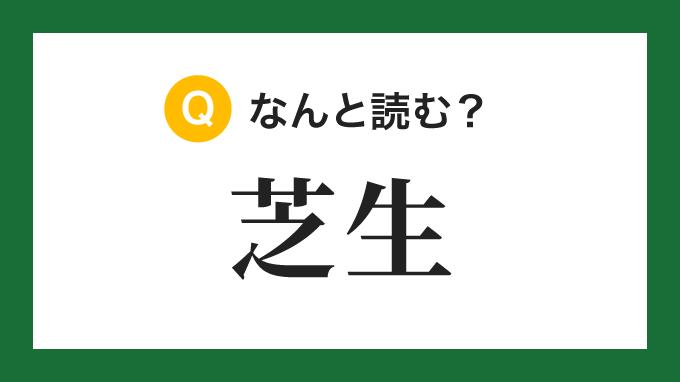 【熟字訓】「芝生」の読み方は?